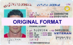 Arizona Driver License, Scananble Arizona Driver License, Fake Arizona Driver License