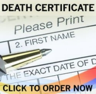 fake death certificate, fake death record, fake novelty death certificate