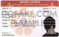 Northern Territory Of Australia Fake ID