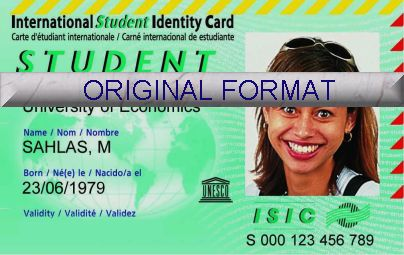 International student identification card template for University id card template